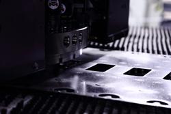 punching-holes-in-mumetal-sheet-stock